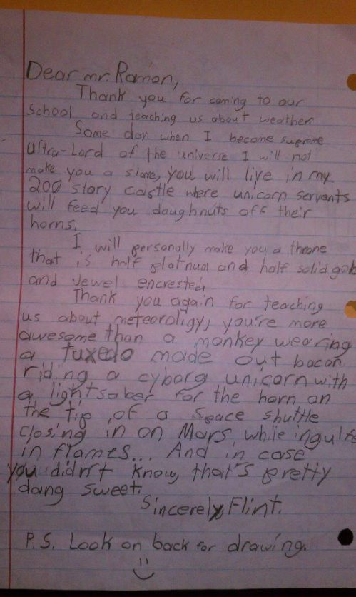 Best thank you letter ever.