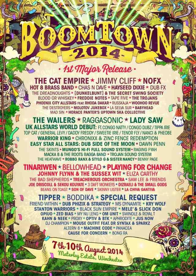 Boomtown Line Up - 2014 WEB